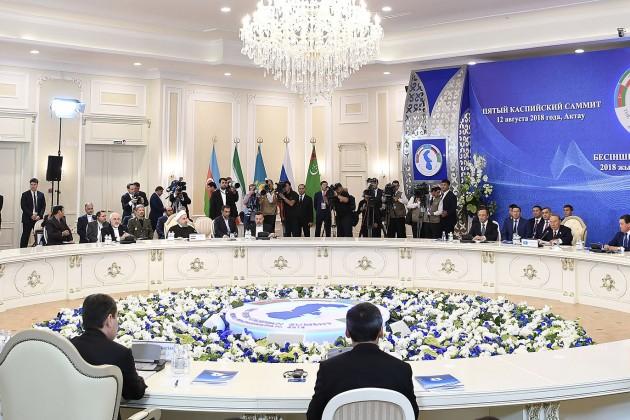 ВАктау подписана «конституция Каспийского моря»