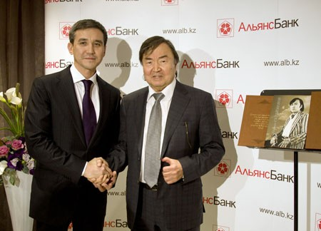 Альянс Банк провел творческий вечера Олжаса Сулейменова