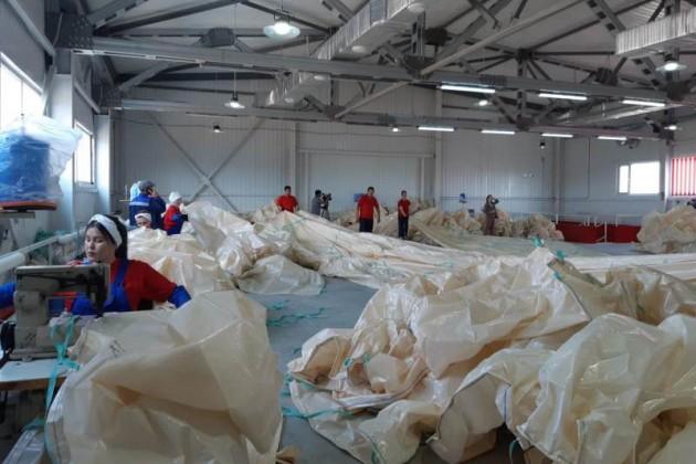 Завод по производству мягких контейнеров запустили в Актобе