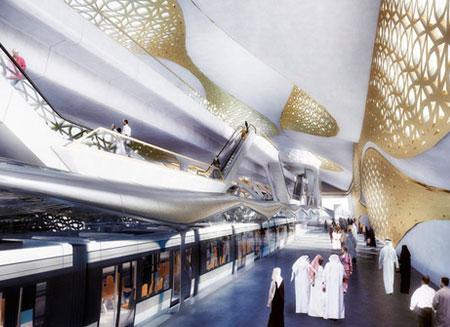Станция метро из золота появится в Эр-Рияда