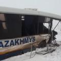 Внедорожник врезался в автобус с шахтёрами в Сатпаеве