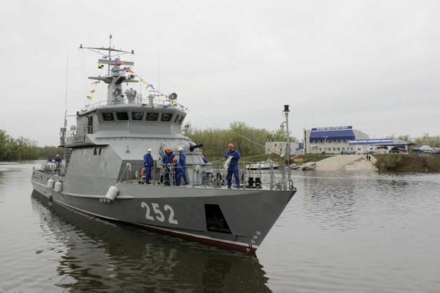 В Уральске спустили на воду корабль Сарыарка