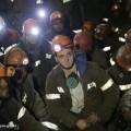 154бастующих шахтера покинули забои