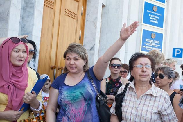 Ипотечники штурмовали здание акимата Алматы