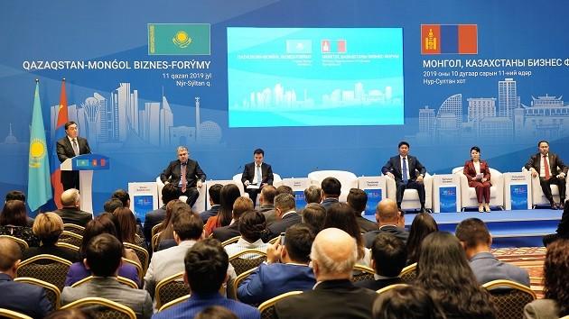 Аскар Мамин и премьер-министр Монголии приняли участие в открытии бизнес-форума