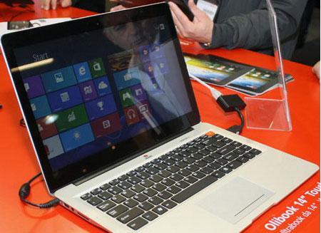 Лэптопы с сенсорным экраном выросли до 10%