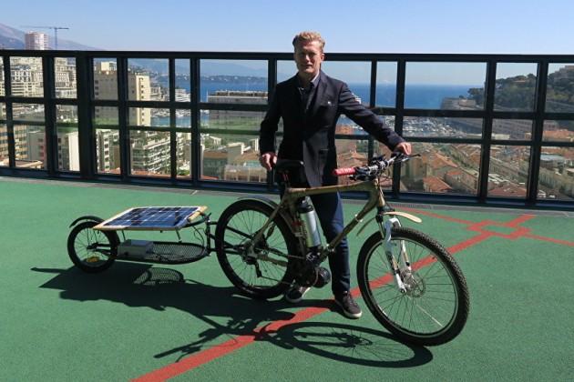 Александр Винокуров проспонсировал проект велосипеда насолнечных батареях