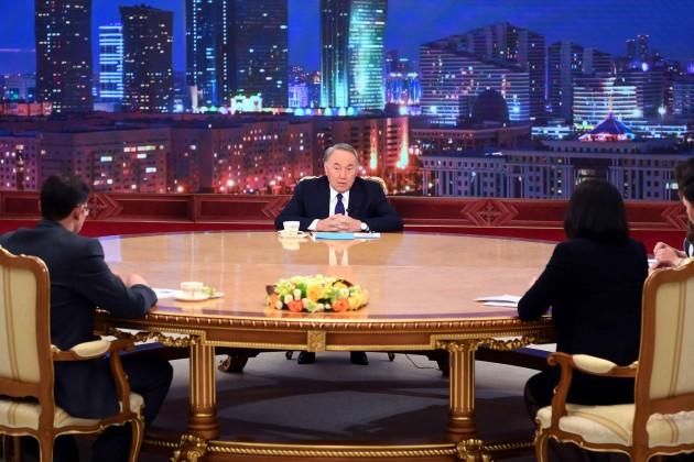 Нурсултан Назарбаев встретился спредставителями республиканских СМИ