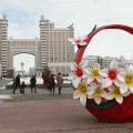 В Астане оформляют город к празднованию Наурыза
