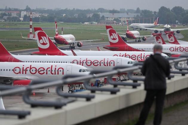 Air Berlin прекратит полеты с28октября