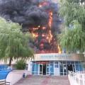 Восемь человек пострадали при пожаре в здании аппарата акима в Таразе