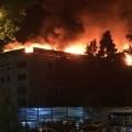 Гостиница Жетісу горела в центре Алматы