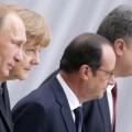 Путин и Порошенко обменялись рукопожатием