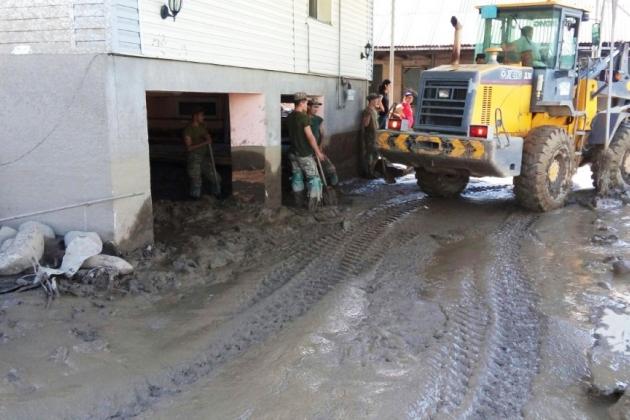 В Алматы затопило микрорайон