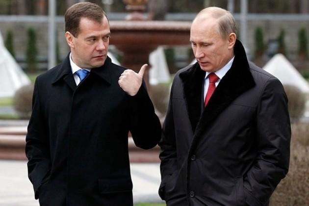 Владимир Путин за год заработал меньше Дмитрия Медведева