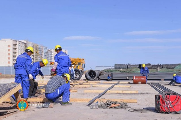 Работы нановой транспортной системе Astana LRT ведутся полным ходом
