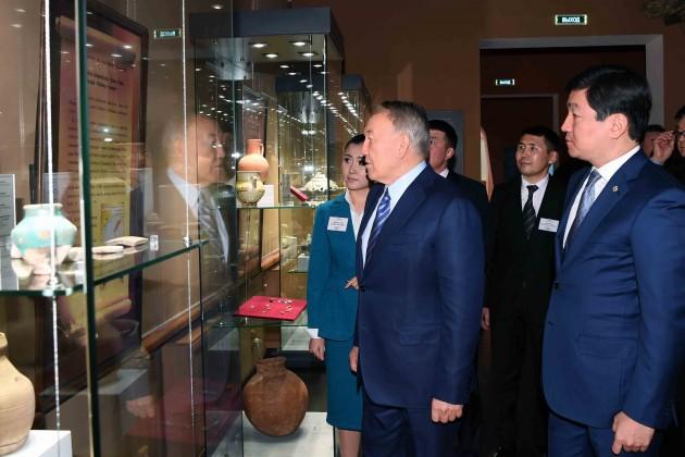 Нурсултан Назарбаев посетил Алматы