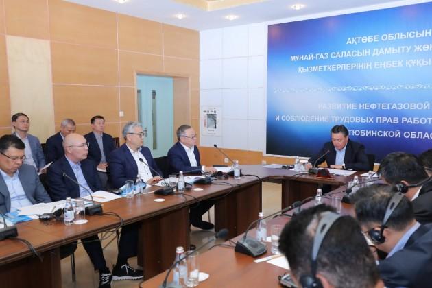 Аскар Мамин осмотрел модернизацию заводов Актюбинской области
