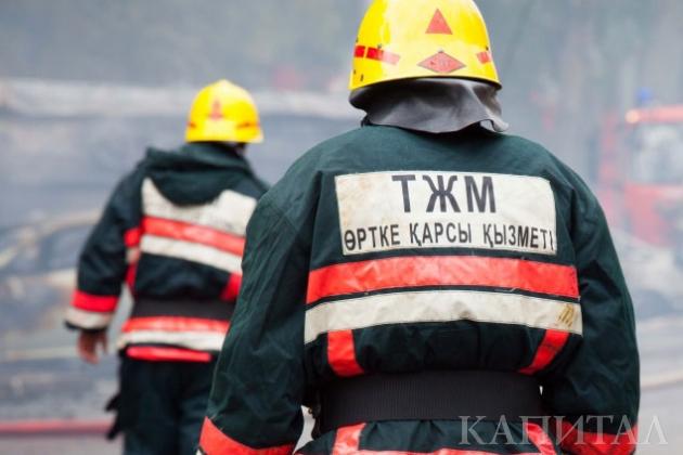 ВАлматы произошел пожар вТЦ «Мега Тау» наЗеленом рынке