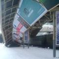 Нажелезнодорожном вокзале Астаны рухнула надстройка