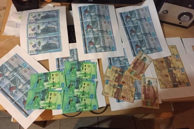 Типография вАлматы печатала фальшивые деньги
