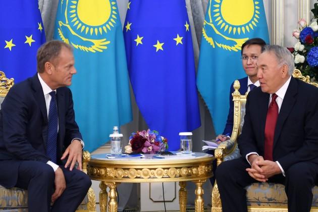 Елбасы встретился с Председателем Европейского совета