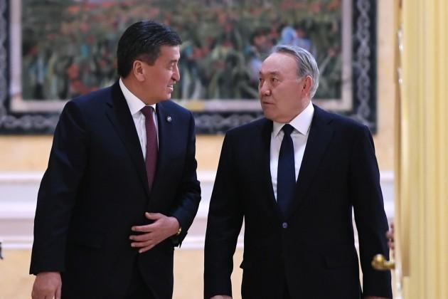 Нурсултан Назарбаев встретился сглавой Кыргызстана