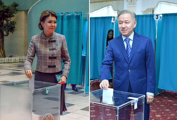 На выборах проголосовали Дарига Назарбаева и Нурлан Нигматулин