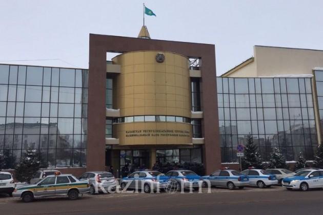 Скопление полицейских возле здания Нацбанка объяснили вДВД Астаны