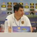 Пресс-конференция тренера карагандинского «Шахтёра»