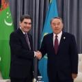 Нурсултан Назарбаев встретился сглавами Ирана, Азербайджана иТуркменистана