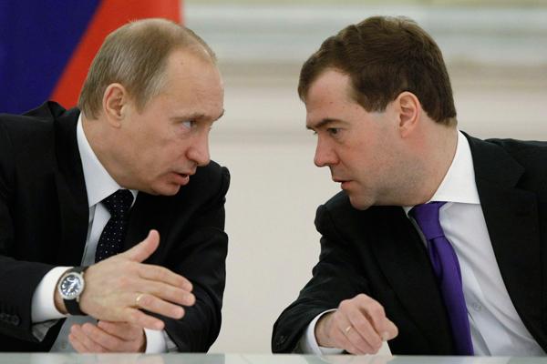 Стали известны доходы Владимира Путина иДмитрия Медведева