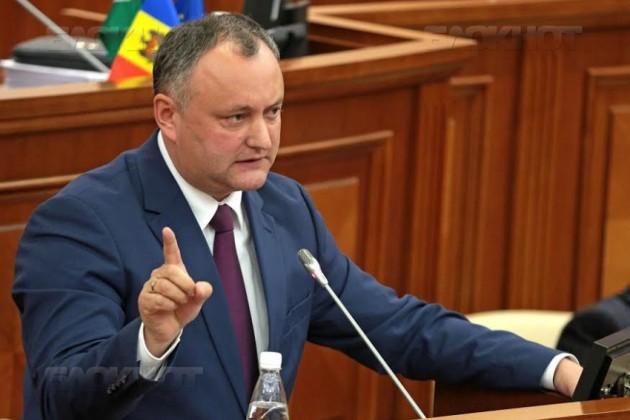 Игорь Додон отказался отденег Евросюза