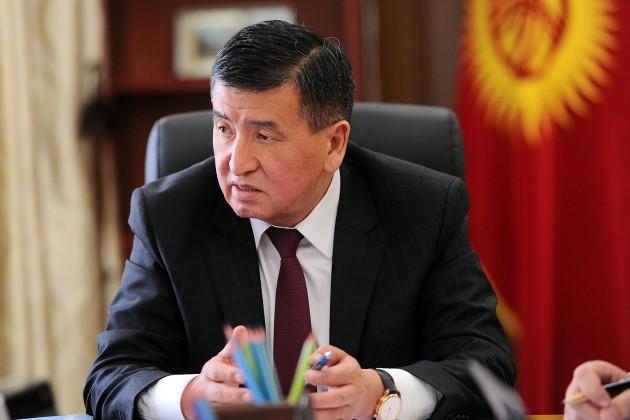 Премьер-министр Кыргызстана Сооронбай Жээнбеков подал вотставку