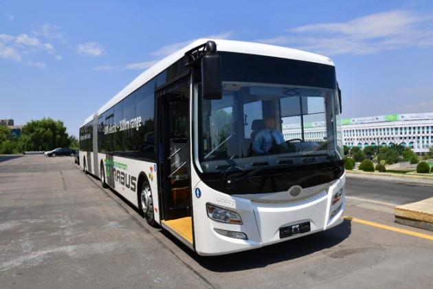 Наулицах Алматы проходят испытания электроавтобуса