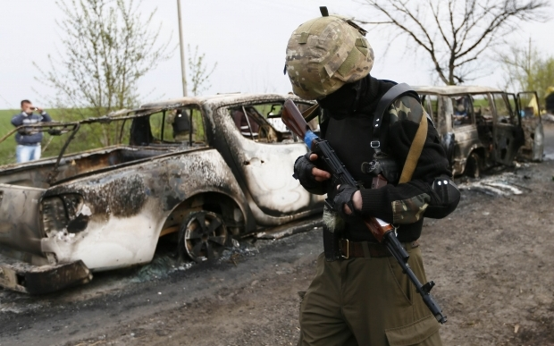 Украинские военные контролируют Славянск и Краматорск