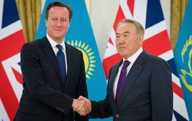 Назарбаев обсудил с Кэмероном вопросы в нефтегазовой сфере