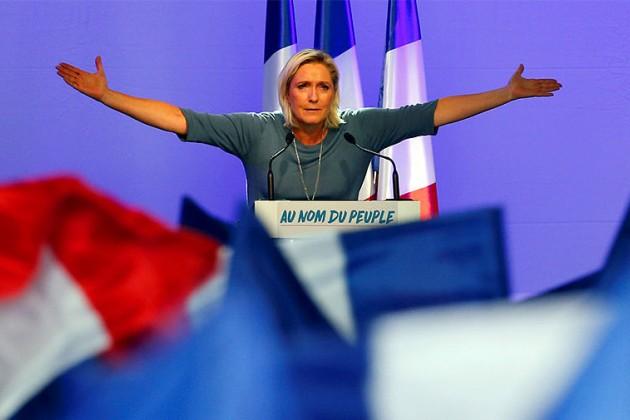 ЗаМарин ЛеПен готовы проголосовать 26% французов