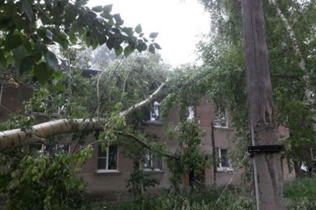 Несколько районов на востоке РК пострадали от сильного ветра