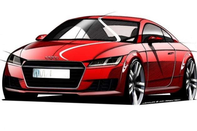 Скетчи Audi TT нового поколения