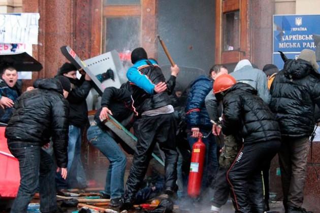 В Харькове начались столкновения