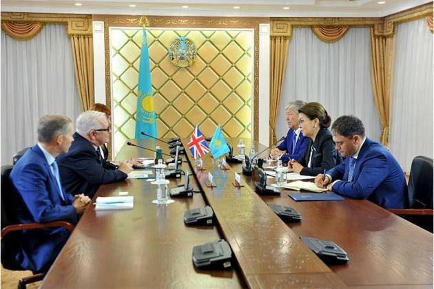 Дарига Назарбаева приняла посла Великобритании
