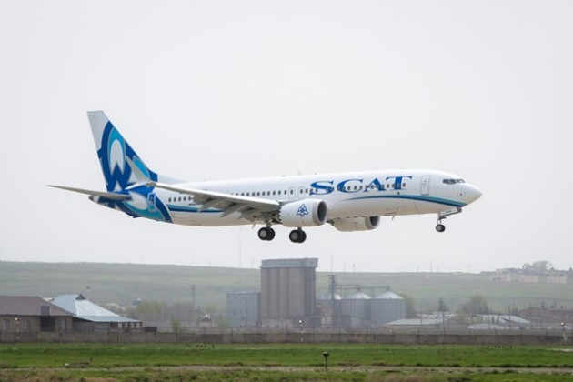 Авиакомпания SCAT получила новейший «Боинг 737Макс 8»