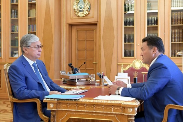 Президент заслушал отчет о развитии Павлодарской области