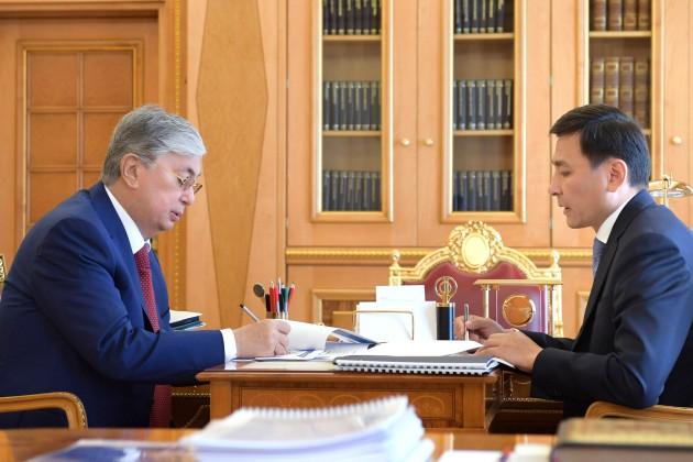 Президент встретился с Алтаем Кульгиновым и Бауыржаном Байбеком
