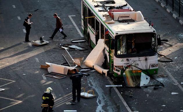 В Волгограде взорвался пассажирский автобус