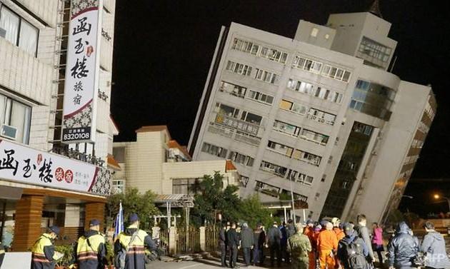 НаТайване произошло сильное землетрясение