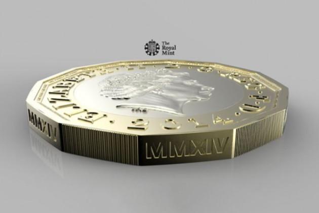 Великобритания начала замену монет номиналом 1фунт