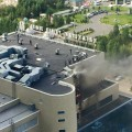 В здании КТЖ произошло возгорание