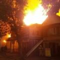 ВАлматы возник пожар врайоне оптового рынка